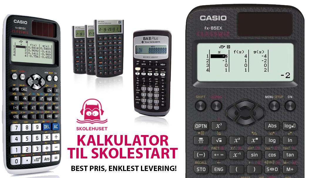Skoleavtale for elevkjøp av kalkulator