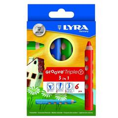Lyra Groove Store Fargeblyanter ‑ Sett med 6 stk