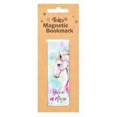 Tinka Magnetisk Bokmerke ‑ Pastellfarget med magisk enhjørning