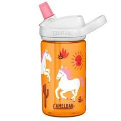 Camelbak Eddy+ drikkeflaske ‑ Orange med ville hester 400ml