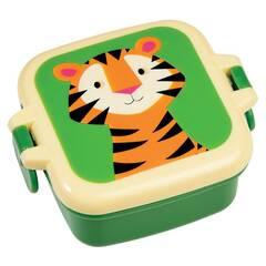 Rex London Mini Snacksboks ‑ Grønn med tiger