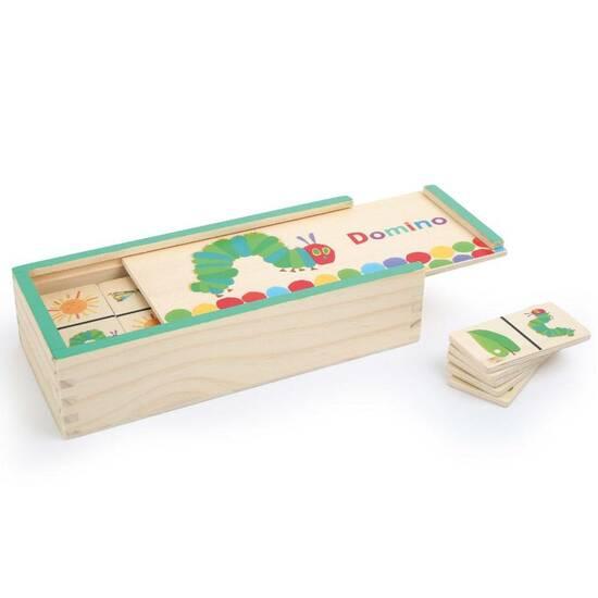 Den Lille Larven Aldrimett ‑ Dominobrikker med figurer    fra Skolehuset.no