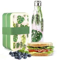 Rex London kombinasjonspakke matboks og termoflaske ‑ Tropiske tema
