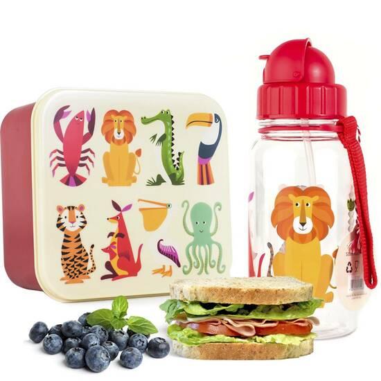 Rex London kombinasjonspakke matboks og drikkeflaske ‑ Løve fra Skolehuset.no