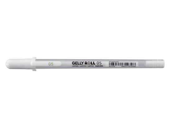 Sakura Gelly Roll 05 ‑Fine Hvit  fra Skolehuset.no