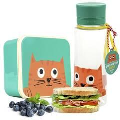 Rex London kombinasjonspakke matboks og drikkeflaske ‑ Katten Chester