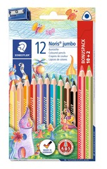 Staedtler 12 Jumbo fargeblyanter med blyantspisser