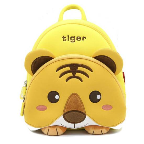 Nohoo Barnehagesekk i vanntett neopren ‑ Tiger‑tigergutt   fra Skolehuset.no