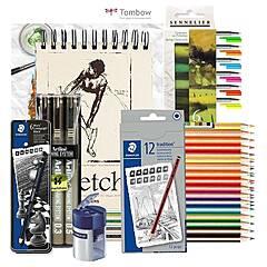 Tegning Startpakke Nivå 4: Stort utvalg og mye utstyr for tegning
