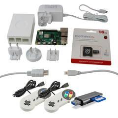 Raspberry Pi 4 ‑ Gamers startpakke 4GB Hvit