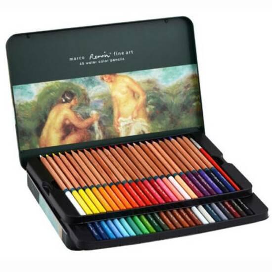 Marco Renoir Fine Art - 48 Akvarell fargeblyanter       fra Skolehuset.no