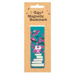 Tinka Magnetisk Bokmerke ‑ Ugle med bøker