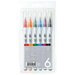 Zig Clean Color penselpenner ‑ Sett med 6 stk