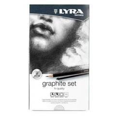 Lyra Graphite sett ‑ Høykvalitets tegnesett med grafittutstyr i metallboks