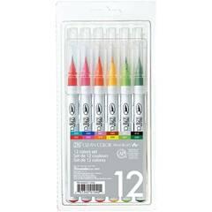 Zig Clean Color penselpenner ‑ Sett med 12 stk