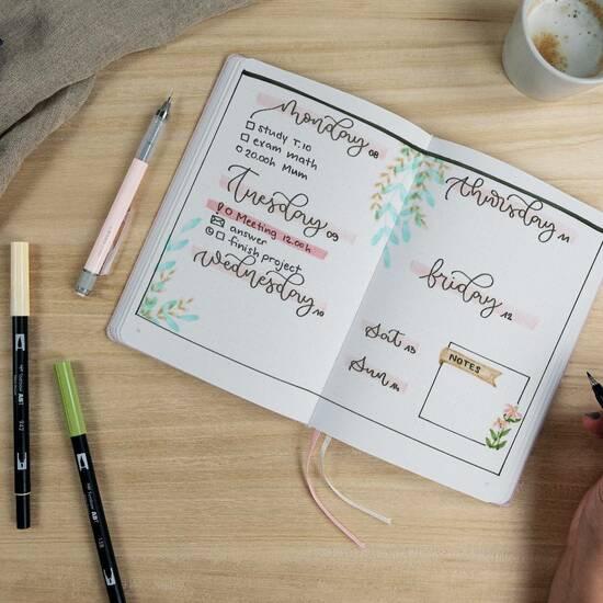 Tombow Journaling Kit ‑ Pastel fra Skolehuset.no