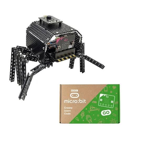 TOTEMSPIDER Robotedderkopp og BBC Micro:bit V2 fra Skolehuset.no