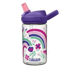 Camelbak Eddy+ drikkeflaske ‑ Blank med regnbuer og blomster 400ml