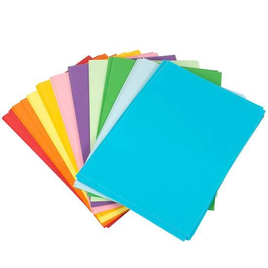 Büngers farget papir A4 80g 50 ark fra Skolehuset.no