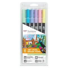 Tombow ABT Dual Brush ‑ 6 Pastel farger