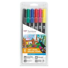 Tombow ABT Dual Brush ‑ 6 Primær farger