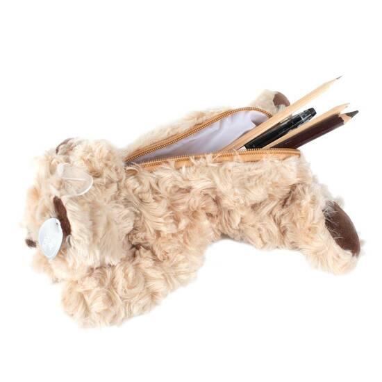Tinka ‑ Hunde pennal med fuskepels  fra Skolehuset.no