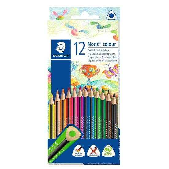 Staedtler Noris Colour 12 fargeblyanter ‑ Trekantetformet   fra Skolehuset.no