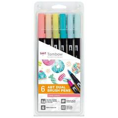 Tombow ABT Dual Brush ‑ 6 Candy farger