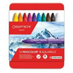 Caran d'Ache Neocolor II Akvarell ‑ 10 farger
