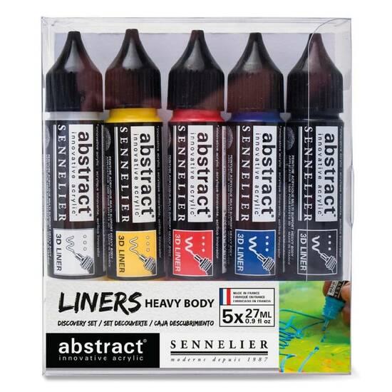 Sennelier Abstract Akrylmaling ‑ Liners 5x27mL fra Skolehuset.no