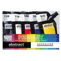 Sennelier Abstract Akrylmaling ‑ Primær 5x120mL