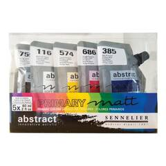 Sennelier Abstract Akrylmaling ‑ Matt Primær 5x60mL
