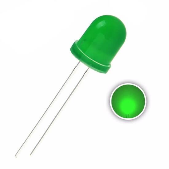 Grønne LED lys ‑ Pakke med 40 stk. fra Skolehuset.no