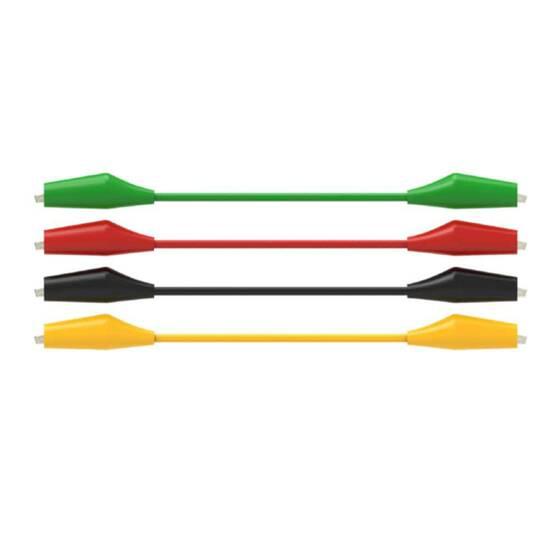 Krokodilleklemmer 400mm ‑ Sort, rød, grønn, gul - Pakke med 80 stk.    fra Skolehuset.no
