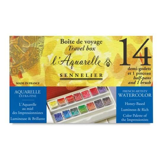 Sennelier l'Aquarelle ‑ 14 farger fra Skolehuset.no