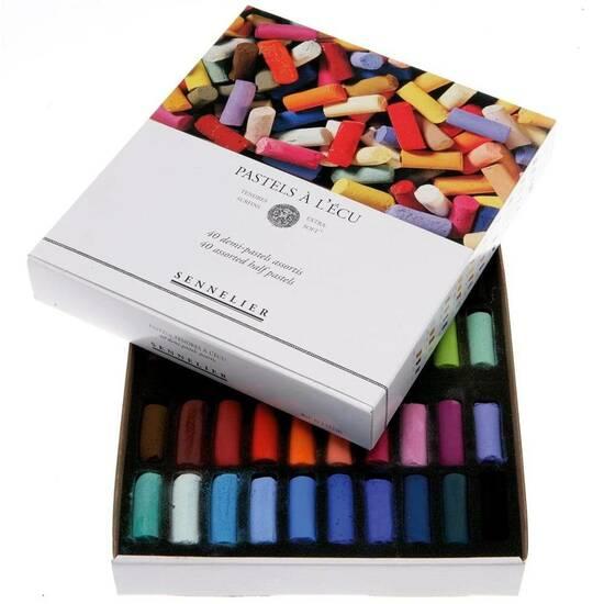Sennelier Ekstra Soft Halve Pasteller ‑ 40 farger   fra Skolehuset.no