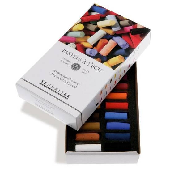 Sennelier Ekstra Soft Halve Pasteller ‑ 20 farger    fra Skolehuset.no