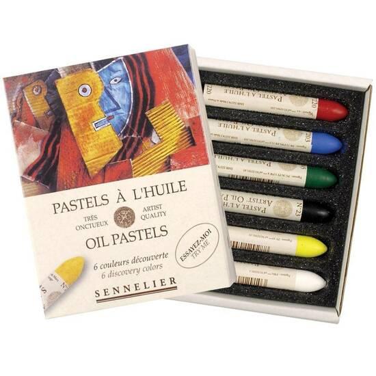 Sennelier Olje Pasteller ‑ 6 oppdagelses-farger  fra Skolehuset.no