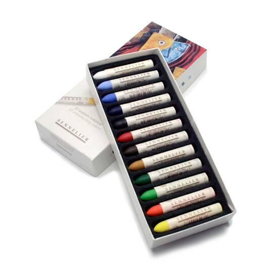 Sennelier Olje Pasteller ‑ 12 farger   fra Skolehuset.no