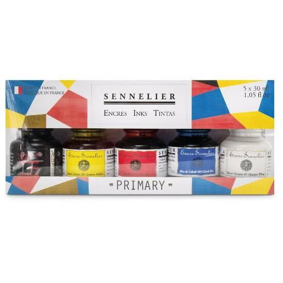 Sennelier Artist Blekk ‑ Primærfargene 5x30mL   fra Skolehuset.no