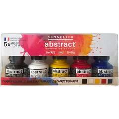 Sennelier Abstract Akryll Blekk ‑ Primærfargene 5x30mL