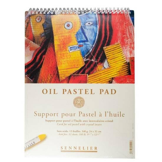 Sennelier Oil Pastel Pad ‑ 340g 12 ark 24x32cm   fra Skolehuset.no