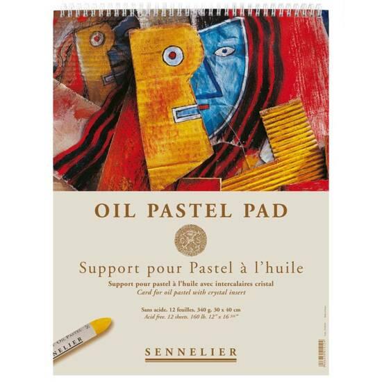 Sennelier Oil Pastel Pad ‑ 340g 12 ark 30x40cm     fra Skolehuset.no