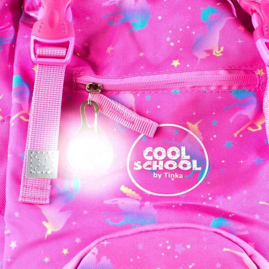 NYHET! Tinka skolesekk ‑ Rosa med enhjørning fra Skolehuset.no