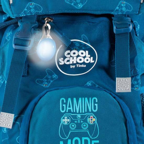 NYHET! Tinka skolesekk ‑ Blå Gamingmode   fra Skolehuset.no