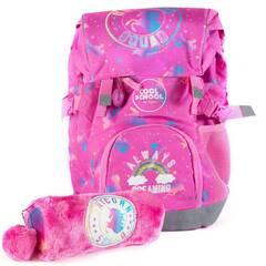 NYHET! Tinka skolesekk og posepennal i kombipakke ‑ Rosa med enhjørning