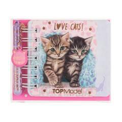 TOPModel Mini Notatbok med penn ‑ To katter