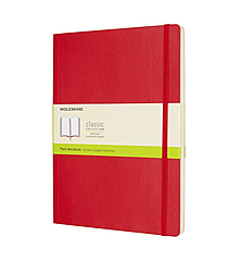 Moleskine Soft XL Dotted Notatbok - Rød