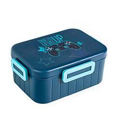 Tinka matboks med 2 rom ‑ Blå gamingmotiv