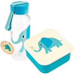 Rex London kombinasjonspakke matboks og drikkeflaske ‑ Elefanten Elvis
